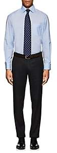Eton MEN'S MICRO-HOUNDSTOOTH COTTON DRESS SHIRT-LT. BLUE SIZE 18 L