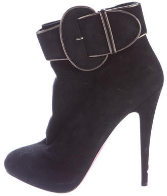 Christian Louboutin Christian Louboutin Suede Trottinette Ankle Boots
