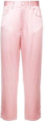 Fleur Du Mal cropped fitted trousers