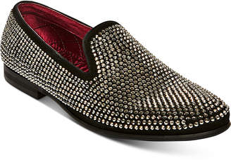 Steve Madden Men Caviarr Rhinestone Smoking Slipper Men Shoes