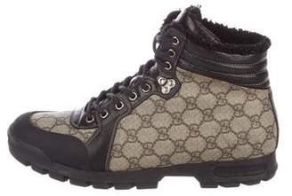 Gucci GG Supreme Hiking Boots
