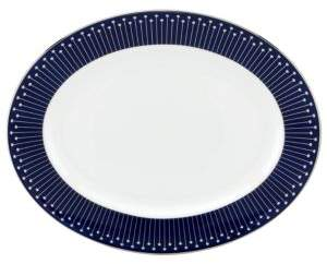Kate Spade Mercer Drive Platinum-Accented Bone China Oval Platter