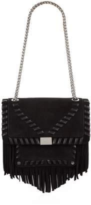 Claudie Pierlot Leather Fringed Bag