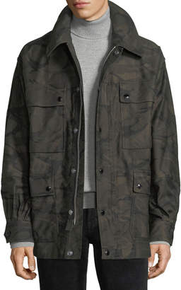 Tom Ford Camouflage-Print Four-Pocket Oversized Jacket