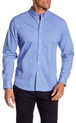 Slate & Stone Modern Fit Print Accent Long Sleeve Button Shirt