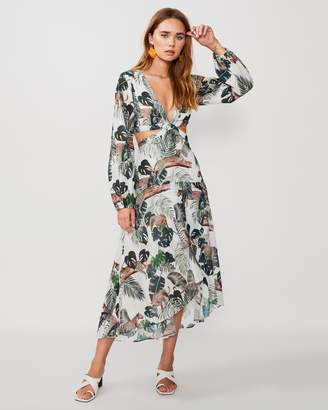 SUBOO Xenia Cut-Out Balloon Sleeve Dress