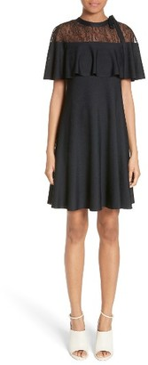 Women's Valentino Lace Capelet Knit Dress $2,980 thestylecure.com
