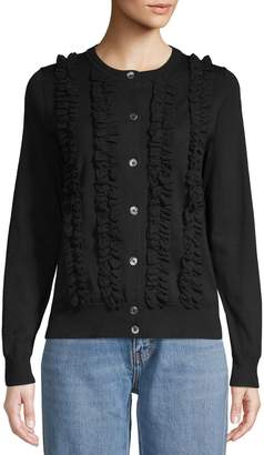 Marc Jacobs Ruffle Trim Cardigan