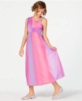 My Michelle Embellished-Strap One-Shoulder Maxi Dress, Big Girls
