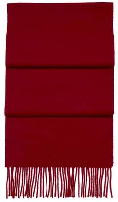 Aspinal of London Pure Cashmere Scarf In Burgundy