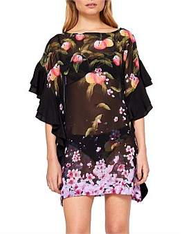 Ted Baker Peach Blossom Square Cover Up
