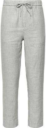 Frescobol Carioca Sandro Linen and Cotton-Blend Drawstring Trousers - Men - Gray