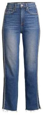 Paige Hoxton High-Rise Ankle Straight Racing Stripe Jeans