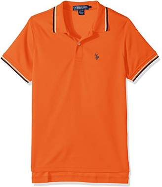 U.S. Polo Assn. Men's Short Sleeve Slim Fit Solid Poly Shirt