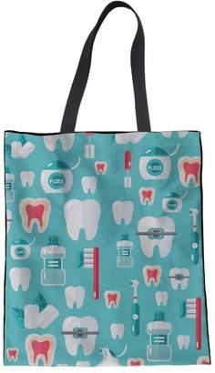 Coloranimal Blue Linen Tote Bag for Teenager Girls Handbag