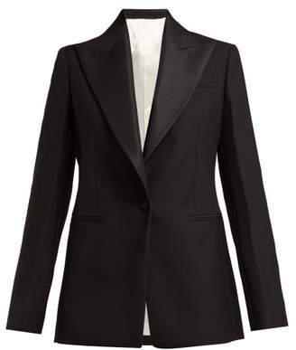Joseph Steed Single Breasted Wool Grain De Poudre Blazer - Womens - Black