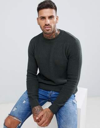 Pull&Bear Sweater In Khaki