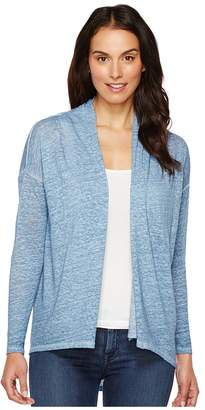 Vince Camuto Long Sleeve Pigment Dye Drape Front Cardigan Women's Sweater
