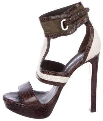 outlet store online Belstaff Ponyhair Platform Sandals discount pictures CFnUnP