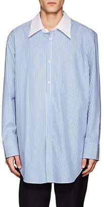 Maison Margiela Men's Striped Cotton Poplin Shirt