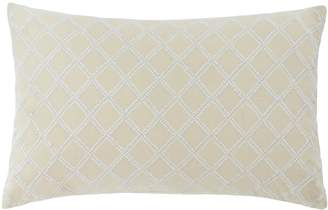 Southern Tide Southern Hospitality Embroidered Trellis Decorative Pillow