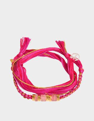 Aurelie Bidermann Takayama Bracelet With Pink Quartz
