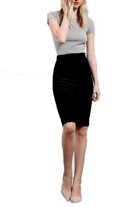 Three Dots Black Velvet Skirt