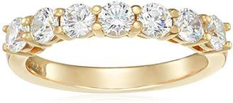 Swarovski -Plated Sterling Silver Zirconia 7-Stone Round-Cut Ring