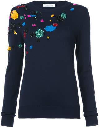 Oscar de la Renta abstract sequined jumper