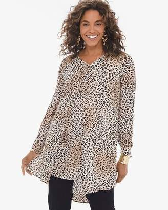 Chico's Chicos Long Leopard-Print Top