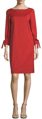 Lafayette 148 New York Paige 3/4-Sleeve Jersey Dress, Plus Size