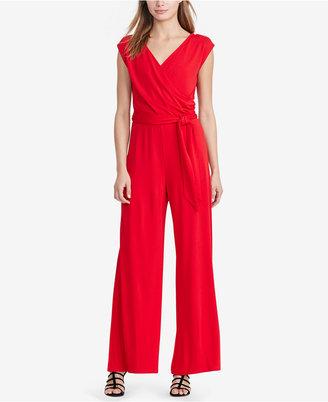 Lauren Ralph Lauren Jersey Wide-Leg Jumpsuit $155 thestylecure.com