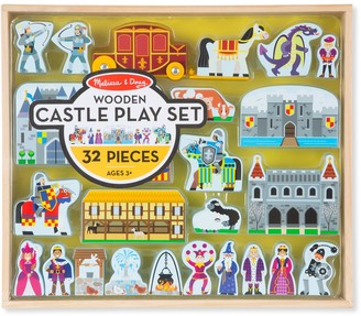 Melissa & Doug 32-pc. Wooden Castle Play Set