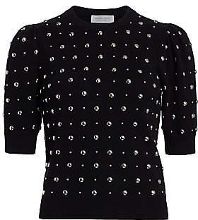 Michael Kors Women's Studded Cashmere Short-Sleeve Pullover Sweater