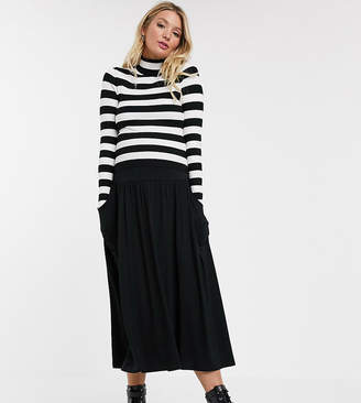 Asos DESIGN Maternity midi skirt with pockets