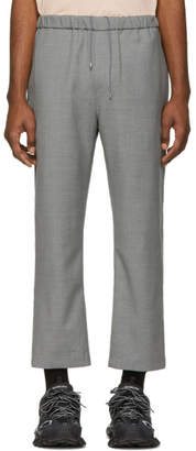 Oamc Grey Wool Cropped Trousers