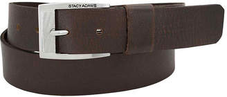 Stacy Adams Buffalo Leather Belt with Wide Leather Keeper