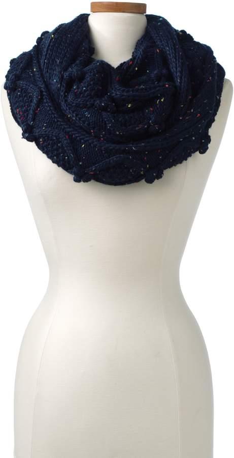 Lands'end Women's Aran Popcorn Knit Infinity