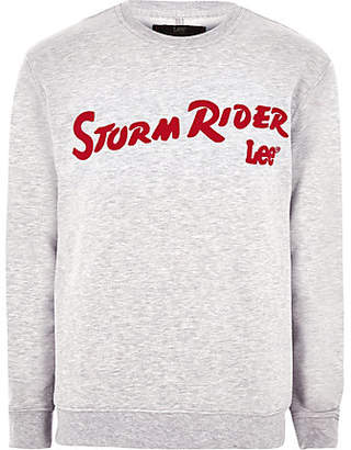 River Island Lee grey 'Storm Rider' sweatshirt