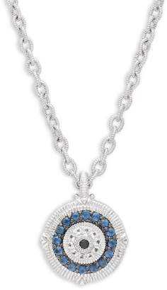 Judith Ripka Women's Large Sapphire Evil Eye Pendant Necklace