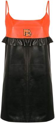Prada panelled slip dress