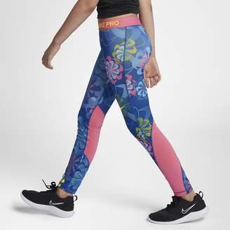 Nike Pro Big Kids' (Girls') Printed Training Tights