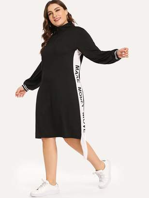 SheinShein Plus Letter Print Dress