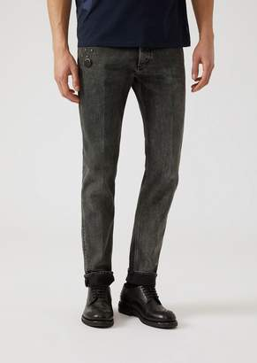 Emporio Armani J00 10.5 Denim Jeans With Decorative Studs