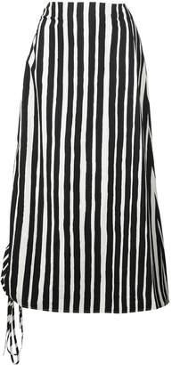 Beaufille striped midi skirt