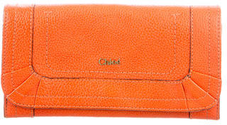 Chloé Chloé Leather Flap Wallet