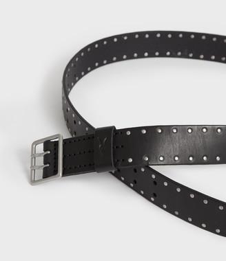 AllSaints Zephyr Stud Leather Belt