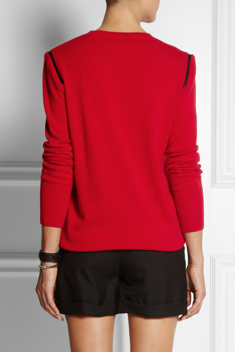 Karl Lagerfeld Kim zipped wool and cashmere-blend sweater