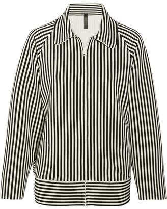 Norma Kamali Striped Stretch-jersey Jacket - Black