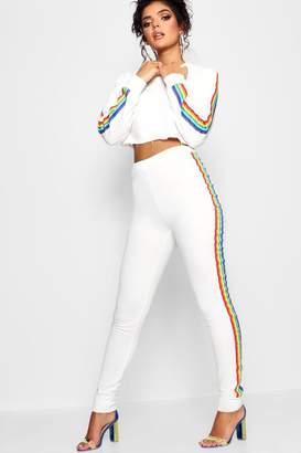 boohoo Rainbow Trim Jogger